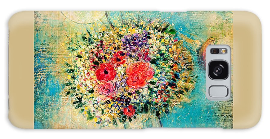 Flower Galaxy S8 Case featuring the painting Celebration by Shijun Munns