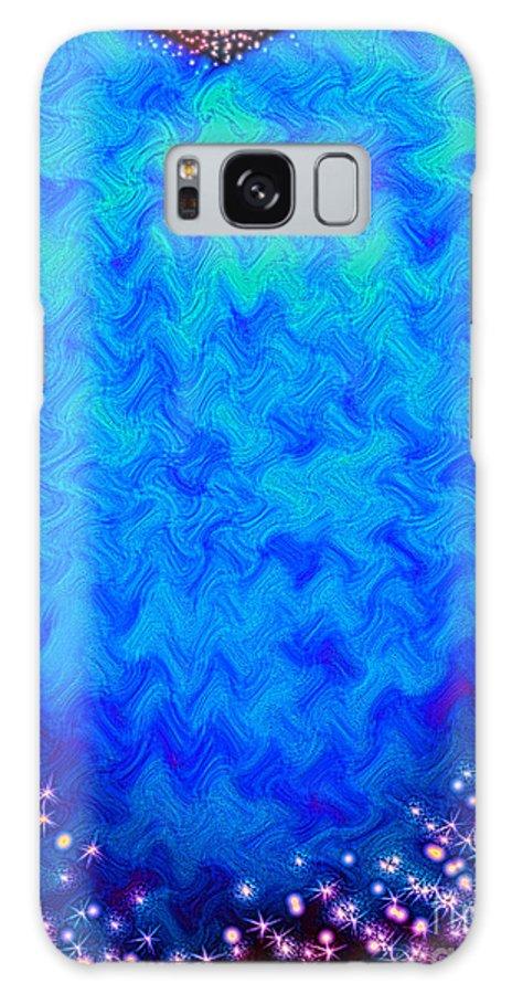 Stars Galaxy S8 Case featuring the digital art Celestial Blue Heart by Candy Frangella