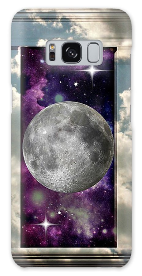 Window Frame Galaxy S8 Case featuring the photograph Celestial View by Jessica Grandall