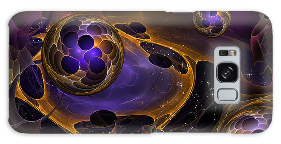 Phil Sadler Galaxy S8 Case featuring the digital art Cell Forms 2 by Phil Sadler