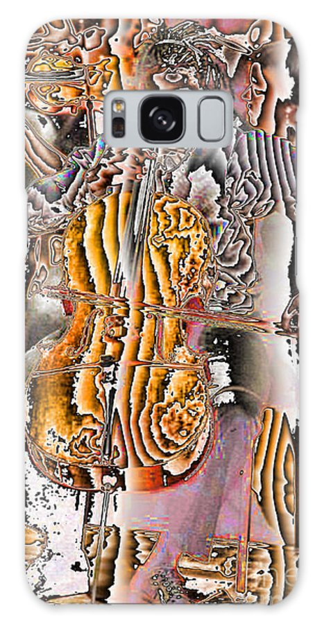Abstract Galaxy S8 Case featuring the digital art Cello Man by Jack Bowman