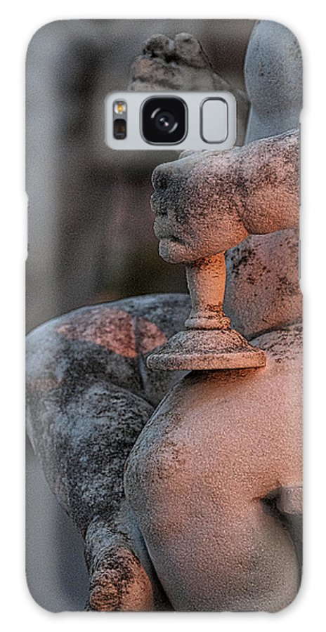 Hvar Galaxy S8 Case featuring the photograph Cemetery Cherub - Hvar Croatia by Stuart Litoff