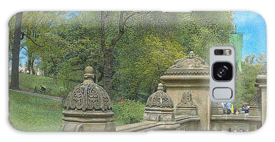 Bathsheba Terrace Galaxy S8 Case featuring the photograph Central Park Bathsheba Terrace 2 by Muriel Levison Goodwin