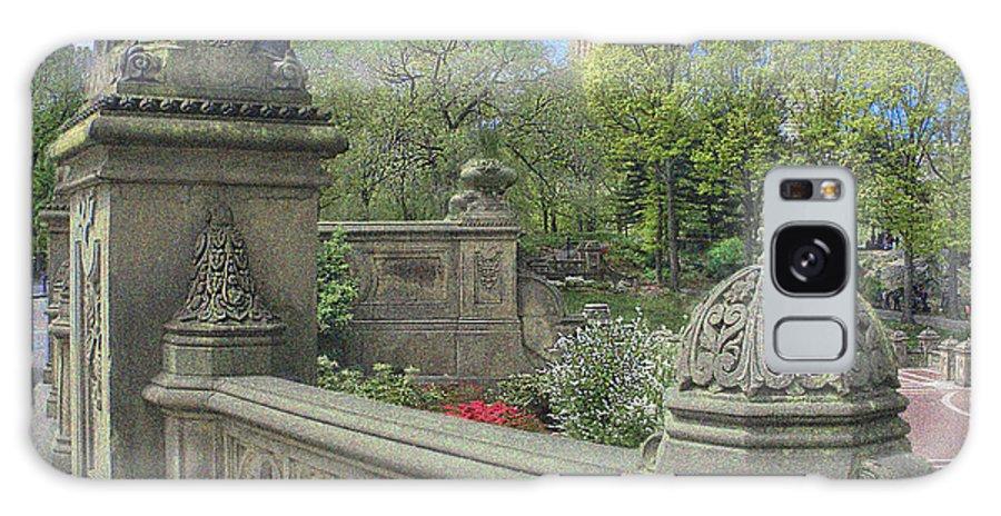 Bathsheba Terrace Galaxy S8 Case featuring the photograph Central Park Bathsheba Terrace 3 by Muriel Levison Goodwin