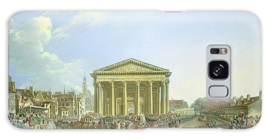 Pantheon Galaxy S8 Case featuring the photograph Ceremony Of Laying The First Stone Of The New Church Of St. Genevieve In 1763, 1764 Oil On Canvas by Pierre-Antoine Demachy