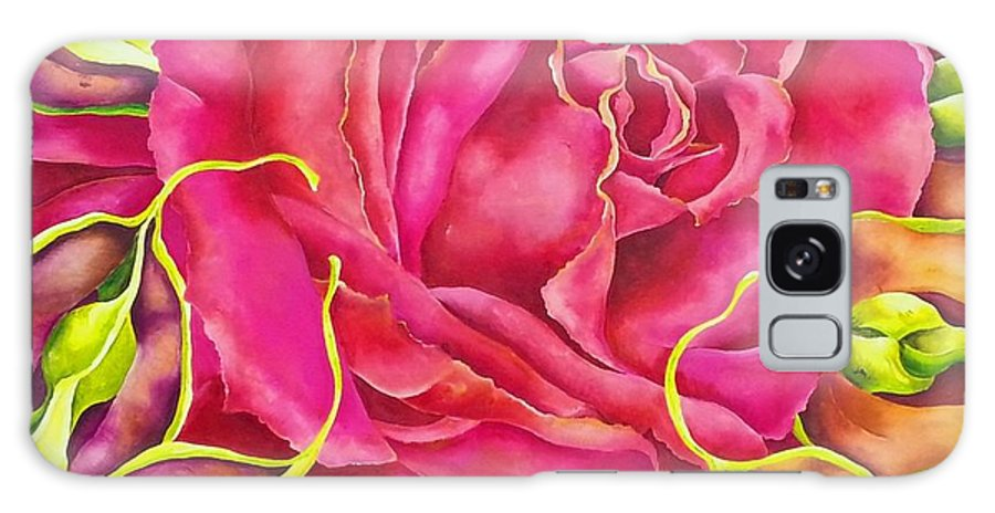 Rose Galaxy S8 Case featuring the painting Cereza by Elizabeth Elequin