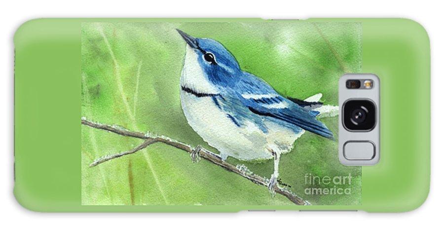 Bird Galaxy S8 Case featuring the painting Cerulean Warbler by Lynn Quinn