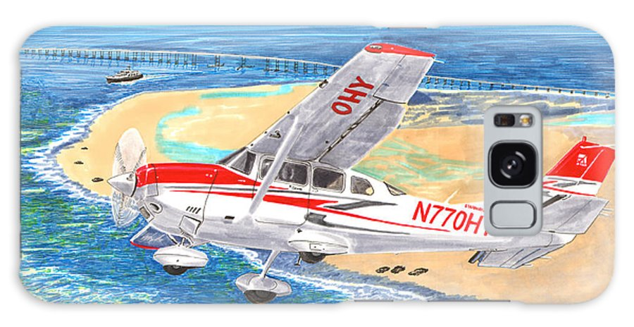 Thank You For Buying A 9 X 12 Wood Print To The Customer From Florida Galaxy S8 Case featuring the painting Cessna 206 Flying Over The Outer Banks by Jack Pumphrey