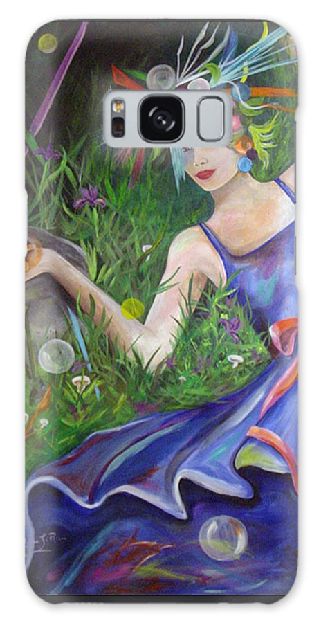 Fantasy Galaxy S8 Case featuring the painting Chanterella by Donna Laplaca