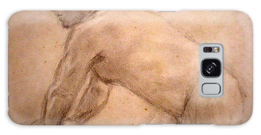 Nude Galaxy S8 Case featuring the drawing Charity Figure Drawing 2 by Steve Spagnola