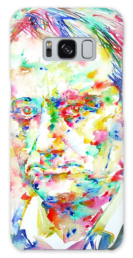 Charles Galaxy S8 Case featuring the painting Charles Baudelaire Watercolor Portrait.1 by Fabrizio Cassetta