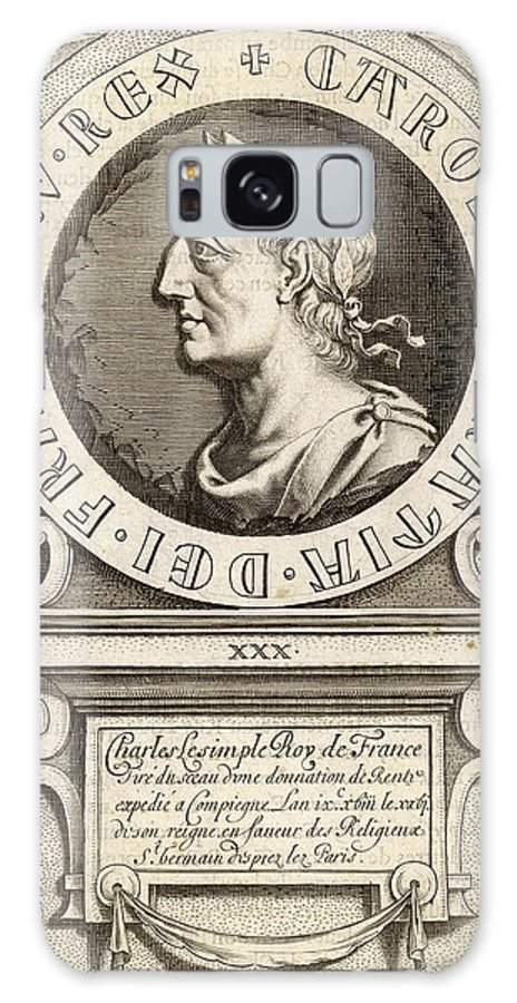 Charles Galaxy S8 Case featuring the drawing Charles IIi Le Simple King Of France by Mary Evans Picture Library