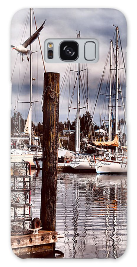 Charleston Oregon Galaxy S8 Case featuring the photograph Charleston Marina At The End Of The Day by Sally Bauer