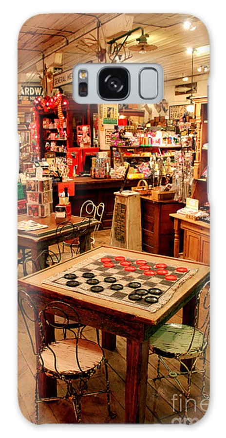 Checkerboard Games Galaxy S8 Case featuring the photograph Checkers At Jefferson General Store by Kathy White