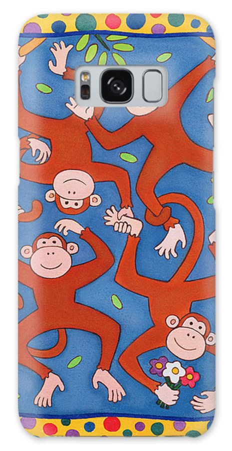 Branch Galaxy S8 Case featuring the photograph Cheeky Monkeys Wc by Cathy Baxter