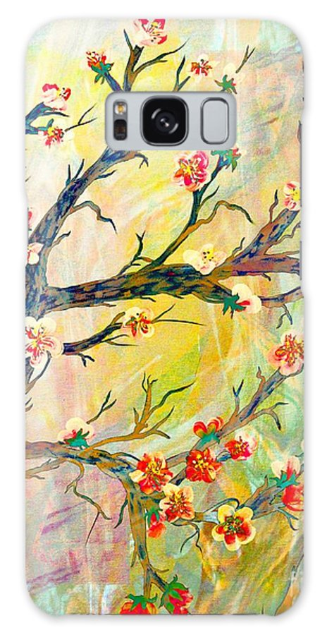 Cherry Blossom Abstract Galaxy S8 Case featuring the painting Cherry Blossoms 1 by Barbara Griffin