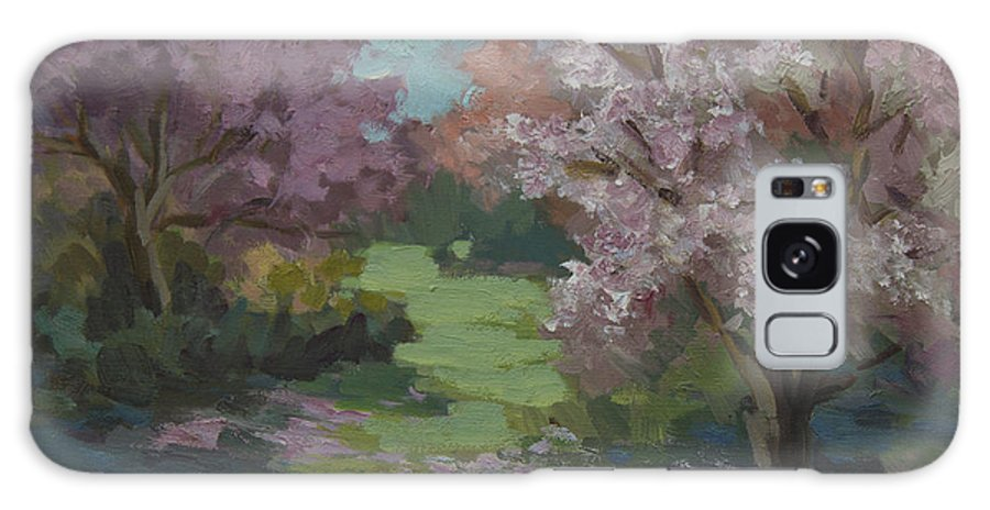 Cherry Trees Galaxy S8 Case featuring the painting Cherry Blossoms by Diane McClary