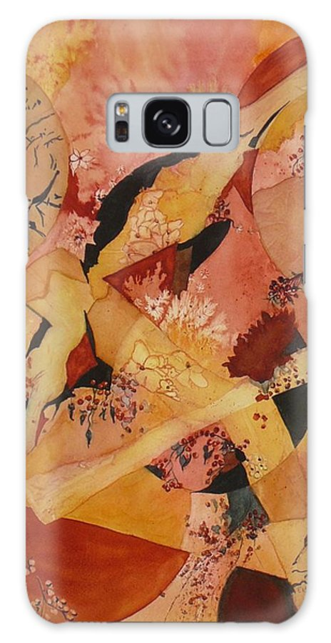 Flower Galaxy S8 Case featuring the painting Cherry Blossoms by Eldora Schober Larson