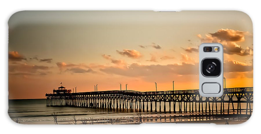 Cherry Grove Galaxy S8 Case featuring the photograph Cherry Grove Pier Myrtle Beach Sc by Trish Tritz