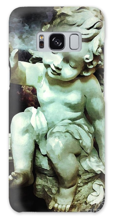 Cherub Galaxy S8 Case featuring the photograph Cherub At Play by Saundra Myles