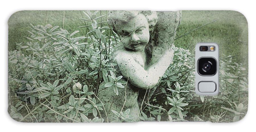 Cherub Galaxy S8 Case featuring the photograph Cherub Statue In The Garden by John Colley