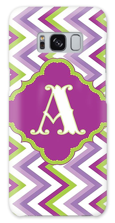 Chevron Galaxy S8 Case featuring the digital art Chevron Monogram by Allison Marie