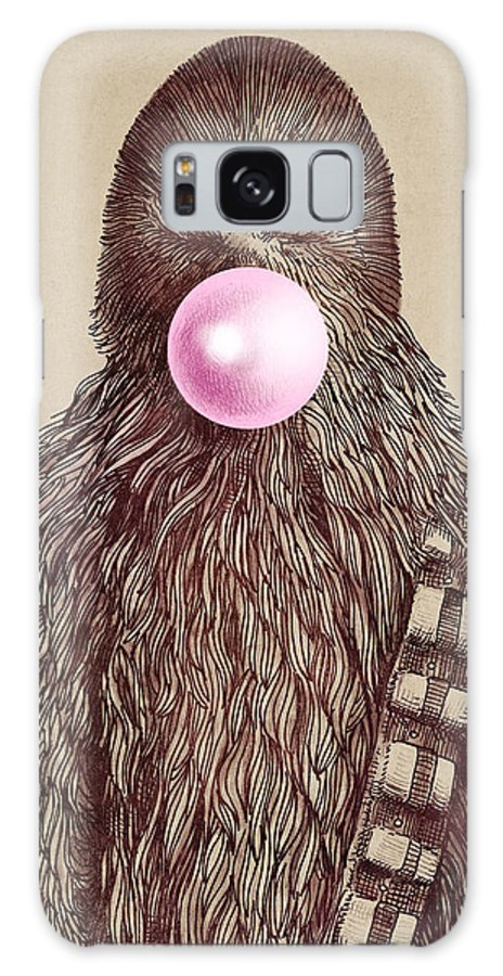 Bubblegum Galaxy S8 Case featuring the drawing Big Chew by Eric Fan