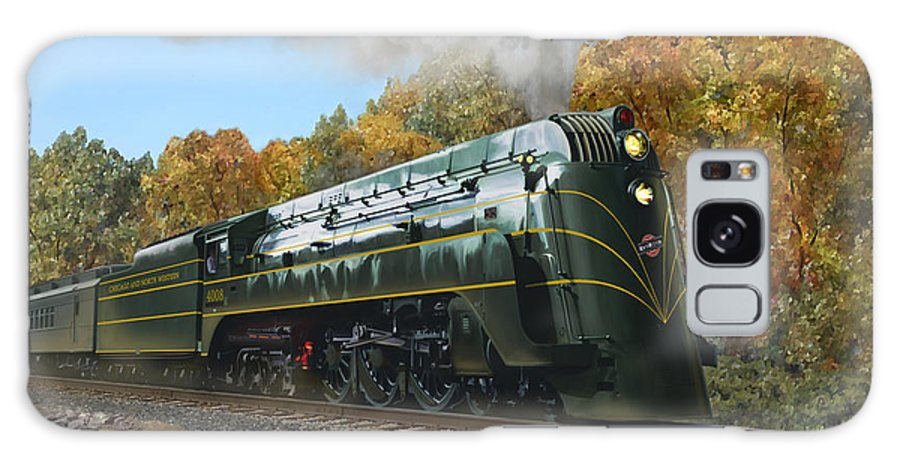 Railroad Art Galaxy S8 Case featuring the painting Chicago And North Western Class E-4 by Mark Karvon