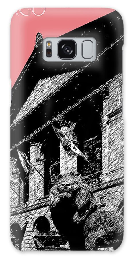 Architecture Galaxy S8 Case featuring the digital art Chicago Art Institute Of Chicago - Light Red by DB Artist