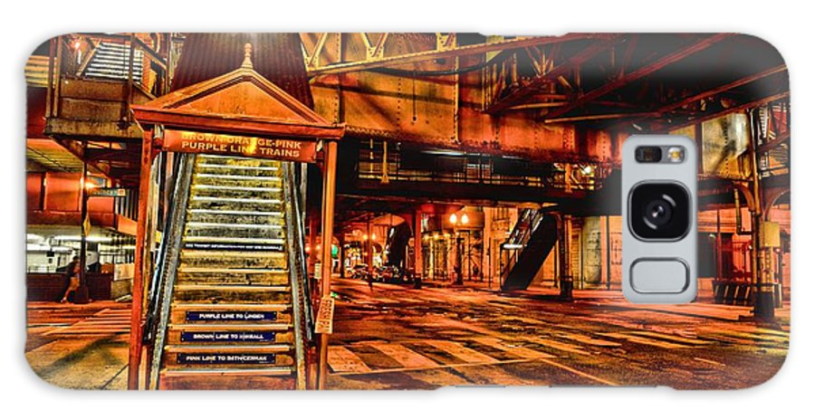Train Station Galaxy S8 Case featuring the photograph Chicago At Night I by Mark Olshefski