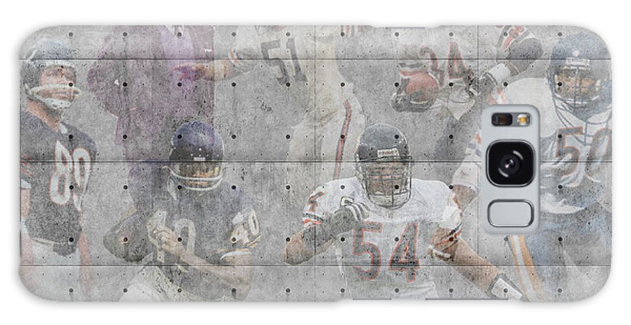 Bears Galaxy S8 Case featuring the photograph Chicago Bears Legends by Joe Hamilton