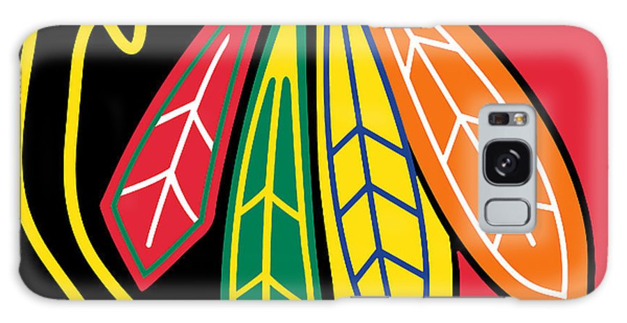 Chicago Galaxy Case featuring the painting Chicago Blackhawks by Tony Rubino