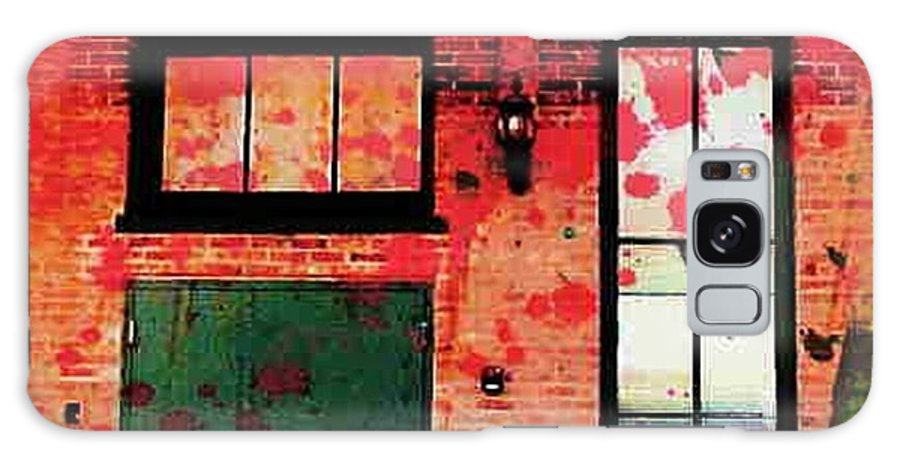 Chicago Galaxy S8 Case featuring the digital art Chicago Brick Facade 21st. Century by Ellen Cannon