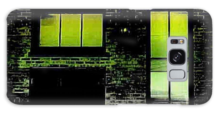 Chicago Galaxy S8 Case featuring the digital art Chicago Brick Facade Glow by Ellen Cannon