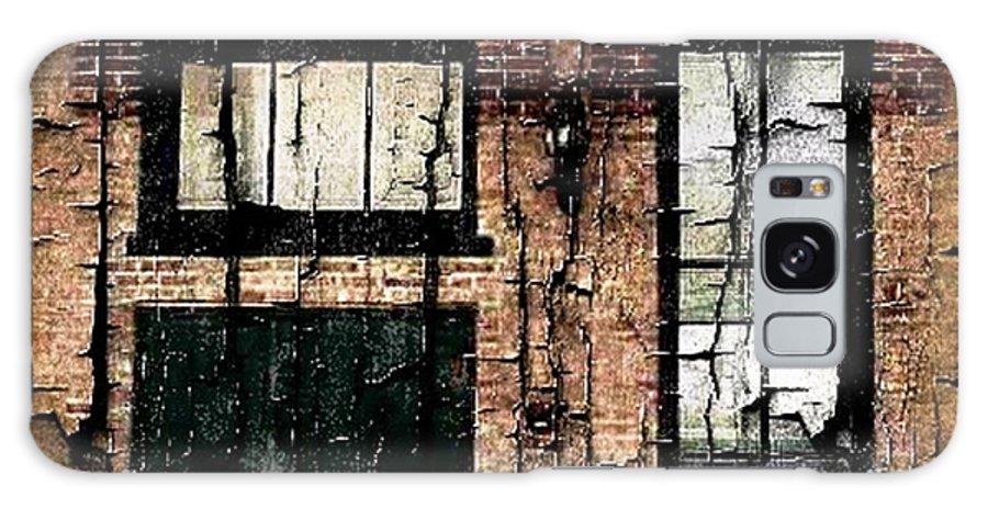 Chicago Galaxy S8 Case featuring the digital art Chicago Brick Facade Grunge by Ellen Cannon