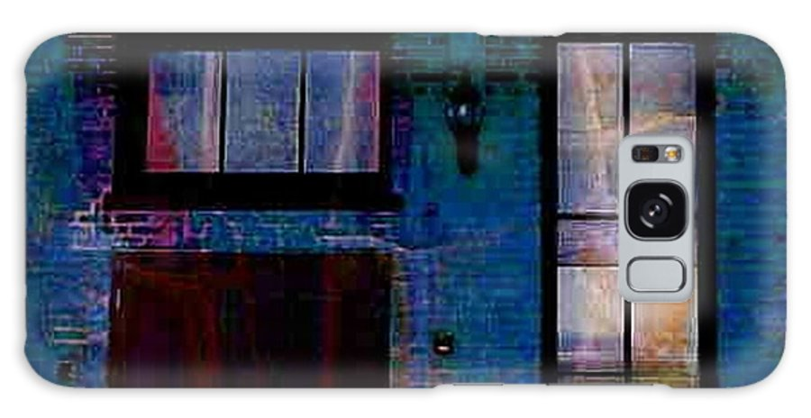 Chicago Galaxy S8 Case featuring the digital art Chicago Brick Facade Night Moves by Ellen Cannon