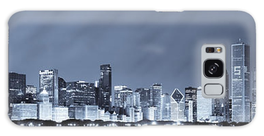 Chicago Skyline Galaxy S8 Case featuring the photograph Chicago In Blue by Sebastian Musial