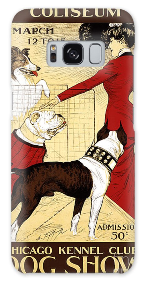 Old Galaxy S8 Case featuring the painting Chicago Kennel Club's Dog Show - Advertising Poster - 1902 by Pablo Romero