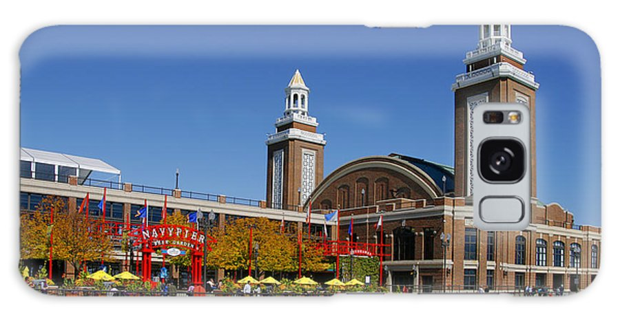 Navy Galaxy S8 Case featuring the photograph Chicago Navy Pier Headhouse by Christine Till