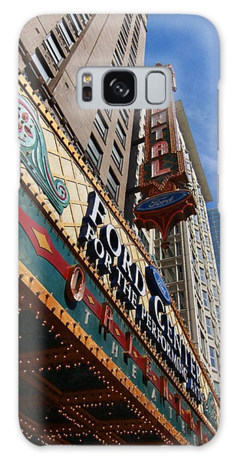 Chicago Galaxy S8 Case featuring the photograph Chicago - Oriental Theatre by Greg Thiemeyer