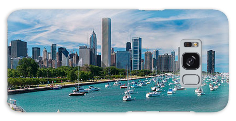 3scape Galaxy S8 Case featuring the photograph Chicago Skyline Daytime Panoramic by Adam Romanowicz