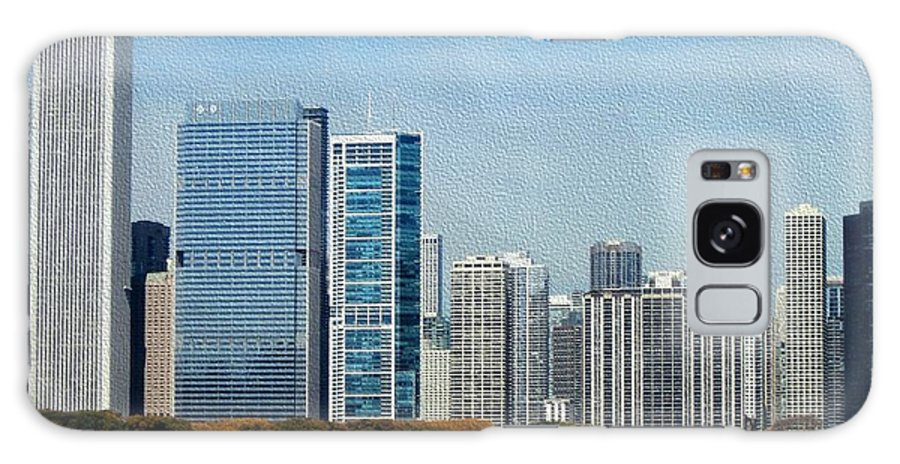 Chicago Galaxy S8 Case featuring the photograph Chicago Skyline by Kathie Chicoine