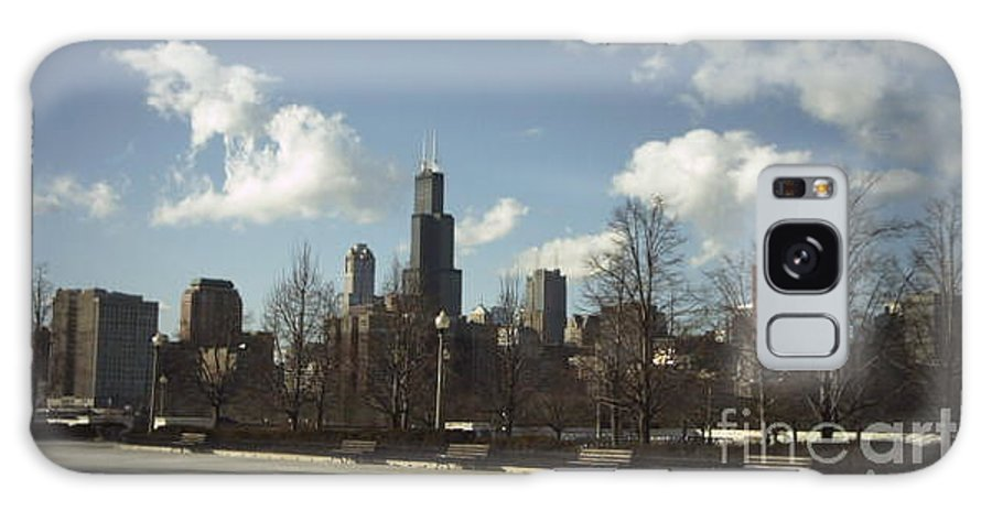 Chicago Skyline Galaxy S8 Case featuring the photograph Chicago Skyline Postcard by Minding My Visions by Adri and Ray