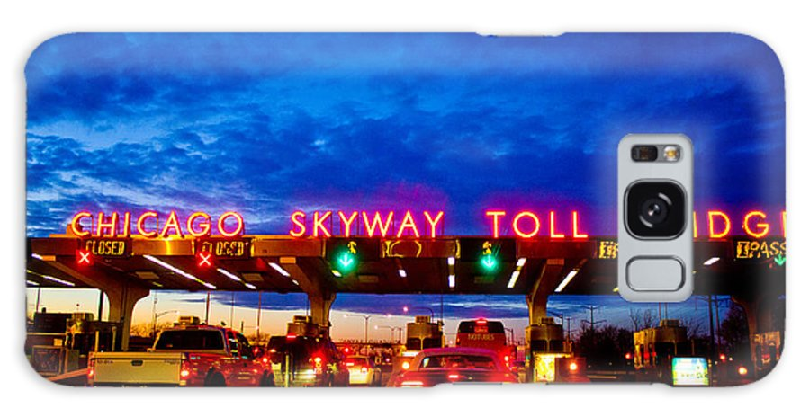 Chicago Galaxy S8 Case featuring the photograph Chicago Skyway Toll Bridge by John McGraw