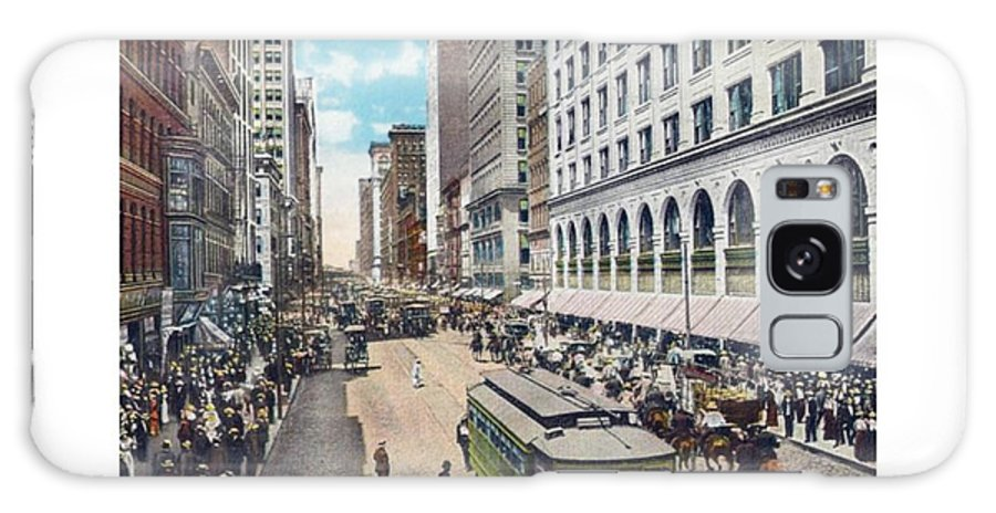 Detroit Galaxy S8 Case featuring the digital art Chicago - State Street North From Van Buren - 1925 by John Madison