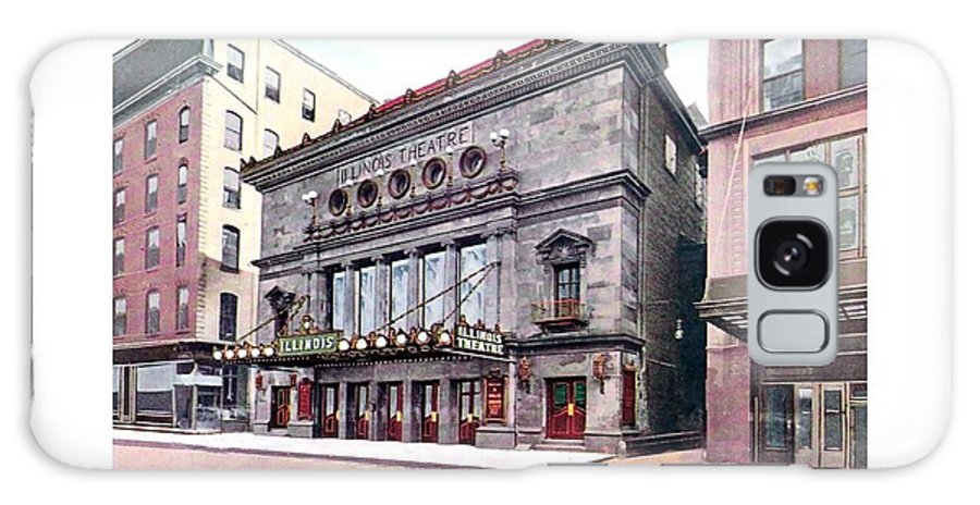 Detroit Galaxy S8 Case featuring the digital art Chicago - The Illinois Theatre - East Jackson Boulevard - 1910 by John Madison