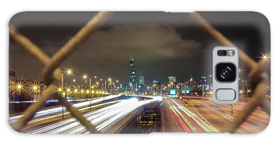 Chicago Galaxy S8 Case featuring the photograph Chicago Long Exposure by John McGraw