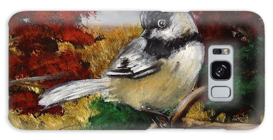 Galaxy S8 Case featuring the painting Chickadee by Brandon Lovell