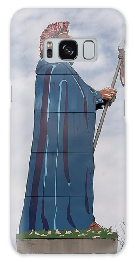 Chief Black Hawk Galaxy S8 Case featuring the photograph Chief Black Hawk At The Watch Tower Plaza by Heidi Brandt