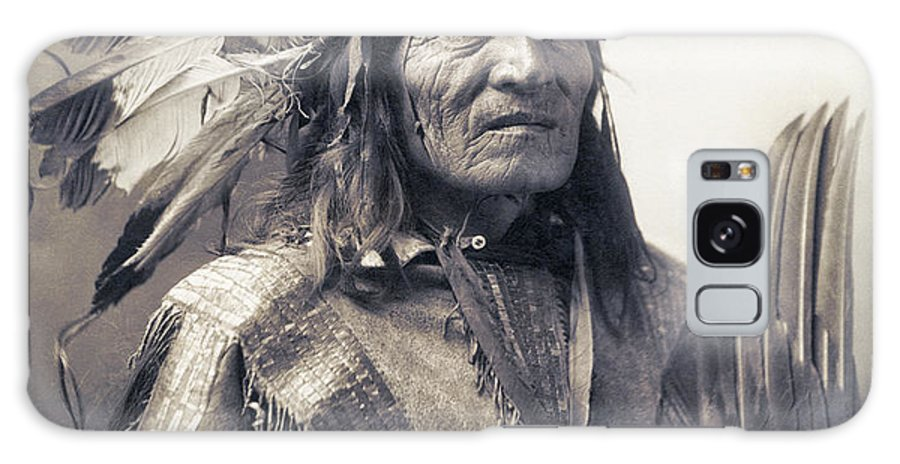 Indian Galaxy S8 Case featuring the photograph Chief He Dog Of The Sioux Nation C. 1900 by Daniel Hagerman